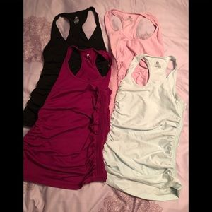 Set of eight Old Navy Active ruched side tanks